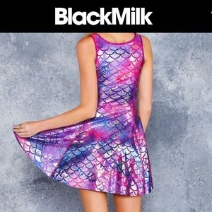 Mermaid Tie dye IOD dress by Blackmilk